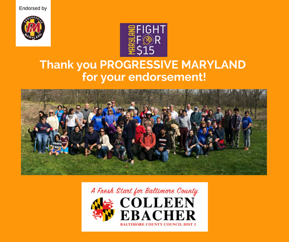 Progressive Maryland endorsement thank you